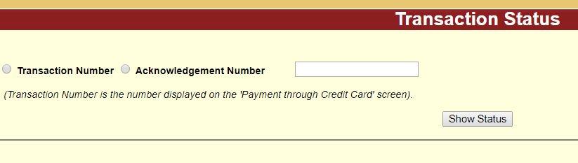 transaction status